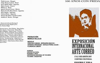 EXPOSICIÓN INTERNACIONAL de ARTE CORREO por los 100 AÑOS CON FRIDA