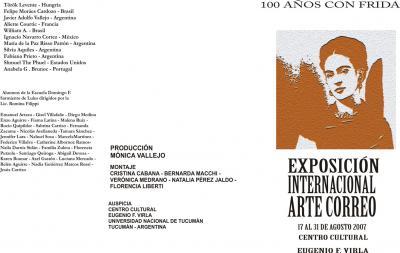 EXPOSICIÓN INTERNACIONAL DE ARTE CORREO 100 AÑOS CON FRIDA